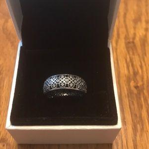Pandora Intricate Lattice Ring